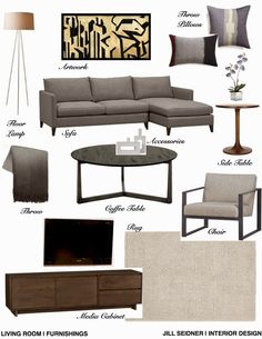 Looking for interior design help? I offer a complete room design (via online design, for anyone, anywhere) which includes furniture floor ...