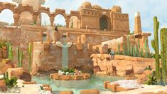 ArtStation - Cacti Temple, Pavel Elagin