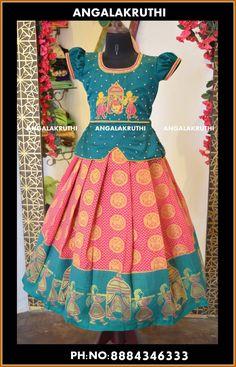 Pattu Pavada designs by Angalakruthi boutique Bangalore Watsapp:+91-8884347333  #pattupavada #pavadai #kanchivaramsilk #kanchipattu pavada #kids lehenga designs #kidsboutique #kids party wear #birthday designs #tradational dress designs #maggam work blouse #kidsembroidery #embroideryblouse #partywear pavadai sattai designs