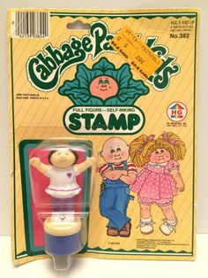 1984 HG Toys Cabbage Patch Kids Full Figure Self Inking Stamp This item is NOT in Mint Condition and is in no way being described as Mint or even Near Mint. Our toys have not always lead the perfect l