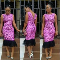 Online Hub For Fashion Beauty And Health: Lovely Simple Ankara Aso-Ebi Style For Ladies