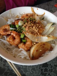 Rice vermicelli noodle salad from Huong Vietnamese Restaurant in Columbus, Ohio