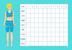 61116586-Body-measurement-tracking-chart-layout-Blank-weight-loss-chart-Chest-waist-hips-arms-thighs-measurem-Stock-Vector.jpg (1300×918)