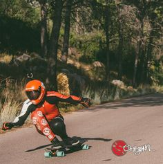Original Skateboards Team Rider, Aleix Gallimo ripping through a right hander at the Salzadella Race on his Vecter 37.  Photo: Mikel Echegaray See the board:  http://originalskateboards.com/longboards/vecter-37-downhill-longboard