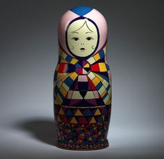 Matrioshka Russian dolls for Vogue Russia. This one was created by Emilio Pucci