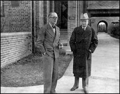 Eliel Saarinen and le Corbusier at Cranbrook Art Academy in Michigan