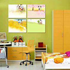 Quadro per bambino dipinto a mano su tela canvas Snoopy arredo casa idea regalo