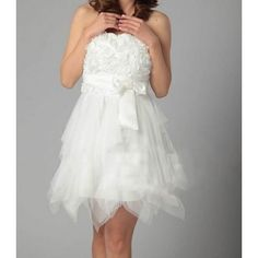 Sleeveless Tutu Flowers & Bow Party Women's Dress - So cute! <3