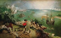 """""""Landscape with the Fall of Icarus,"""" Pieter Brueghel the Elder, 1526"""