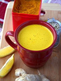 Try this healthy Turmeric Tea Latte or a Quick and Easy Turmeric Tea. It's so nutritious and yummy!