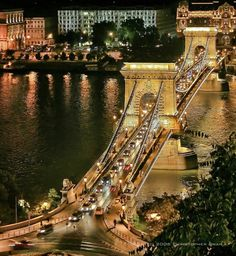 Linking Buda, the western part of the Hungarian capital, with Pest, the eastern part of the city, the Széchenyi Chain Bridge on the Danube River was the first permanent bridge across the river, opened in 1849
