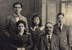 Federico García Lorca y su familia.