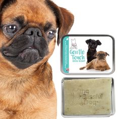 BRUSSELS GRIFFON Gentle Touch Dog Soap Handcrafted in the USA Using All Natural Good Stuff Unscented for Puppies & Dogs with Sensitive Skin by TheBlissfulDog on Etsy