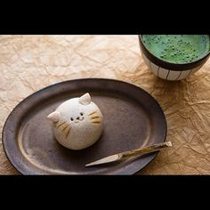 Japanese green tea and sweets (cute one)