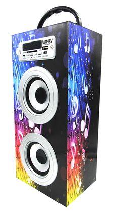 Altavoz Caja Portátil con Bluetooth, Radio, SD, USB, MP3, Inalámbrico y Con Batería Recargable 996115 - https://complementoideal.com/producto/audios/altavoz-caja-portatil-con-bluetooth-radio-sd-usb-mp3-inalambrico-y-con-bateria-recargable-996115/  -  Altavoz Portátil Bluetoothcon el que podrás escuchar toda tu música sin necesidad de cables y en cualquier lugar, conecta todos tus dispositivos mediante la tecnologíaBluetooth fácilmente y comienza a divertir