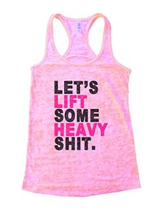 Womans Burnout Lets Lift Some Heavy Shit Workout Lifting Shirt Funny Threadz Large Light Pink ** Want additional info? Click on the image.