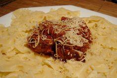 Kittencal's Italian Tomato Pasta Sauce and Parmesan Meatballs. Photo by popkutt.