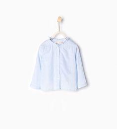 ZARA - KINDER - Hemd mit gekräuselten Ärmeln