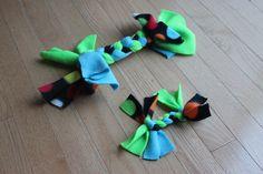 Fleece dog or cat toy craft
