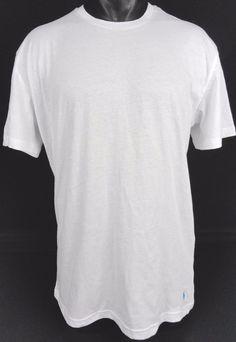 NWT Polo Ralph Lauren Mens XL Pony Logo Basic T-Shirt White Crew Neck SS Cotton #PoloRalphLauren #BasicTee