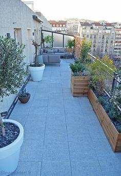Jardin amenagement terrasse surelevee truffaut | Aménagement ...