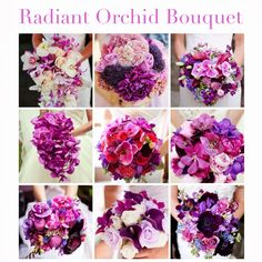 All about Radiant Orchid on my blog post! (radiant orchid weddings, radiant orchid fashion, fashion, flowers, decor, bouquet, purple, pink, home decor, inspirations)