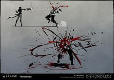 ArtStation - VFX Concept Art | Blood projections & Fight FX, Nicolas Petrimaux