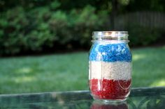 This Fourth of July, shine the light on your party by making these festive Fourth of July votives. Make this DIY with 4 materials and a few simple steps.