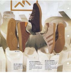 huge selection of e98b9 f72ba Lovely image from an adidas catalogue showing vintage Beach, Corsica and  Riviera