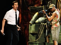"Andrew Rannells, left, and the cast of ""The Book of Mormon"" perform during the 65th annual Tony Awards on June 12, 2011, in New York."