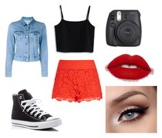 """""""yep"""" by gillsariya ❤ liked on Polyvore featuring City Chic, Chicwish, Acne Studios and Converse"""