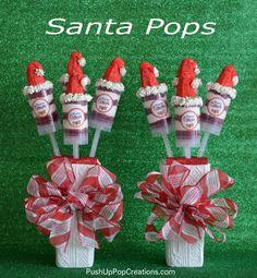 Santa push up cake pops
