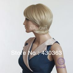 Hot selling delicate short women cheap wig free shipping fashion blonde curly natural wig graceful 100% Kanekalon none lace wig High Quality Wigs, Natural Wigs, Cheap Wigs, Lace Wigs, Delicate, Curly, Free Shipping, Hot, Women