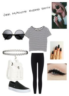 """""""Jenn McAllister inspired outfit"""" by mangotango900 ❤ liked on Polyvore featuring Enza Costa, James Perse, Vans, Miss Selfridge, Anatomy Of and Illesteva"""