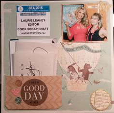 Cook Scrap Craft: I Had a Good Day at BEA Scrapbook Page