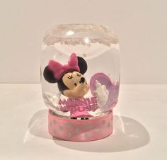 Personalized Snow Globe  Minnie Mouse Snow by GingerspiceStudio