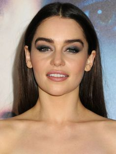 Emilia Clarke at the Game of Thrones Season 3 premiere, March 2013 http://beautyeditor.ca/2013/04/02/is-emilia-clarke-wearing-too-much-makeup-here-discuss/
