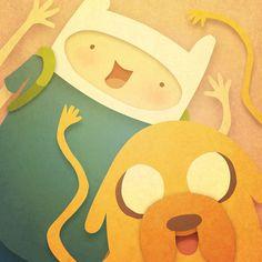 Adventure Time! Art Print Jake and Finn :P