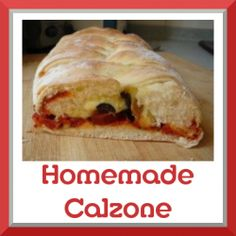 Calzone is a close cousin to pizza; you could even call it wrapped up pizza because the filling is encased in the delicious dough rather than sitting on top. Want to impress your family? Need a handy food, easy to eat at a picnic or party? Great Recipes, Dinner Recipes, Favorite Recipes, Italian Dishes, Italian Recipes, Homemade Calzone, Good Food, Yummy Food, Deep Dish