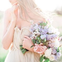 A romantic lilac gray wedding palette pairing soft purple details with luminous peach flowers and soft candlelight Tulle Wedding Gown, Tulle Gown, Wedding Dress Trends, Bridal Gowns, Wedding Dresses, Wedding Bouquets, Wedding Flowers, Floral Bouquets, Floral Wedding