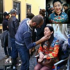 Produttrice Cinese - Makeup on the street...
