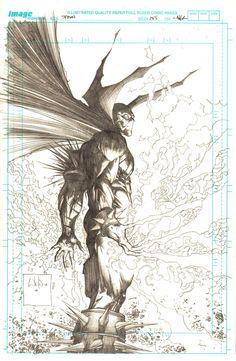 Spawn #185 (Pencil) Cover Art by Whilce Portacio