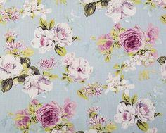 New Season Curtain Fabrics Evelyn Pale Blue