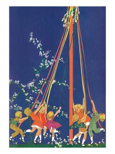 Have you ever danced around the maypole with flowers in your hair? http://www.squidoo.com/may-pole Children around May Pole
