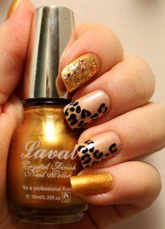 Goodly Nails: Leopardi skittlette