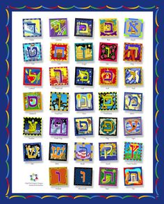Hebrew Alphabet Poster - Hebrew Art