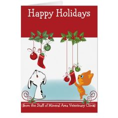 From Your Veterinary Clinic Holiday Greeting Pets Card - christmas cards merry xmas family party holidays cyo diy greeting card
