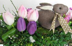 Bloemschikken Rosalie: Bloemschikken Voorjaar & Pasen 2013 - 6. Takkenstandaard