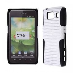 Motorola Droid RAZR HD/ XT926 - Rubberized Hybrid Skin Solid Black Skin with White Cover - $7.99 #onselz