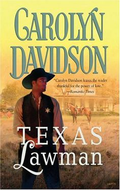 US cover Texas Lawman (Harlequin Historical): Amazon.co.uk: Carolyn Davidson: Books